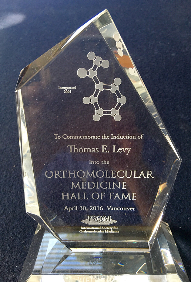 Orthomolecular Medicine Hall of Fame Award